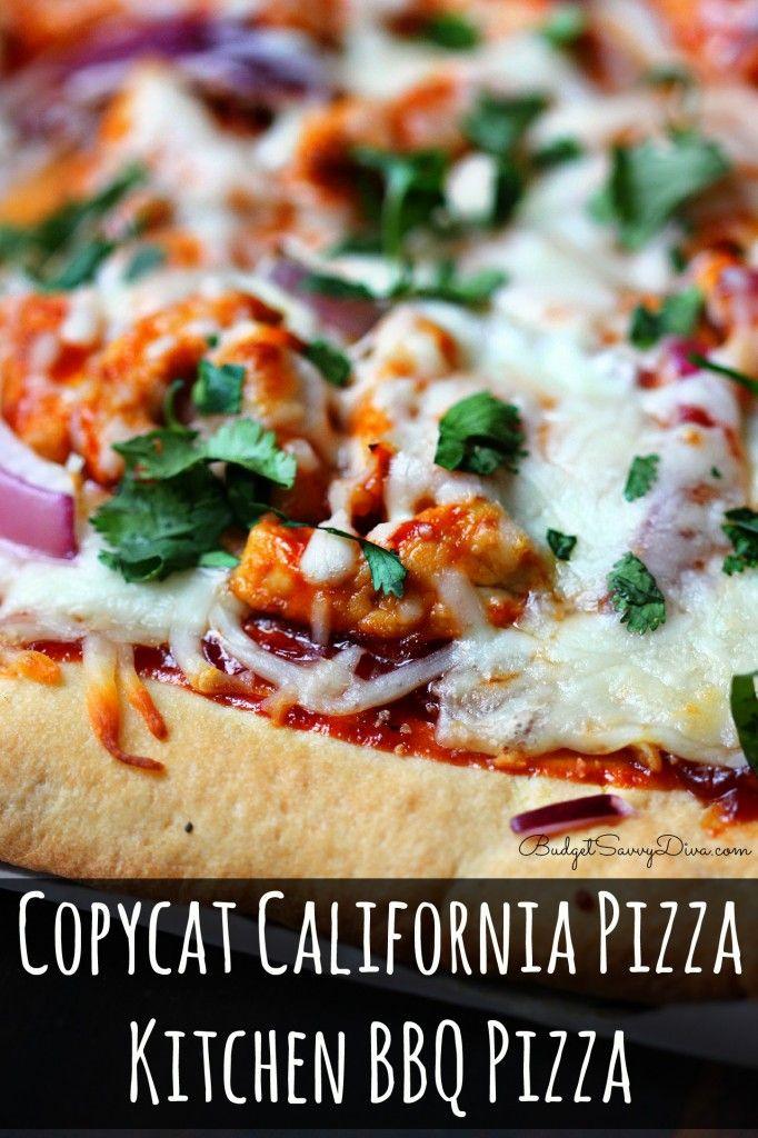 Copycat California Pizza Kitchen Bbq Pizza Recipe California Pizza Kitchen And California Pizza