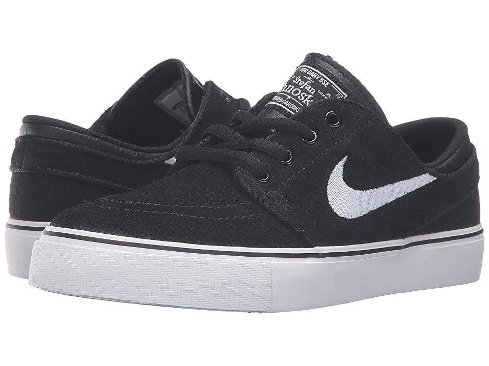 e470246bb9b5f Nike SB Kids Stefan Janoski (Big Kid) Boys Shoes Black/Gum Medium Brown/ White