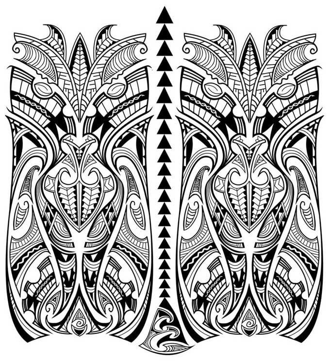 Desenho De Tatuagem Maori Assimetrica Tatuagens Marquesan