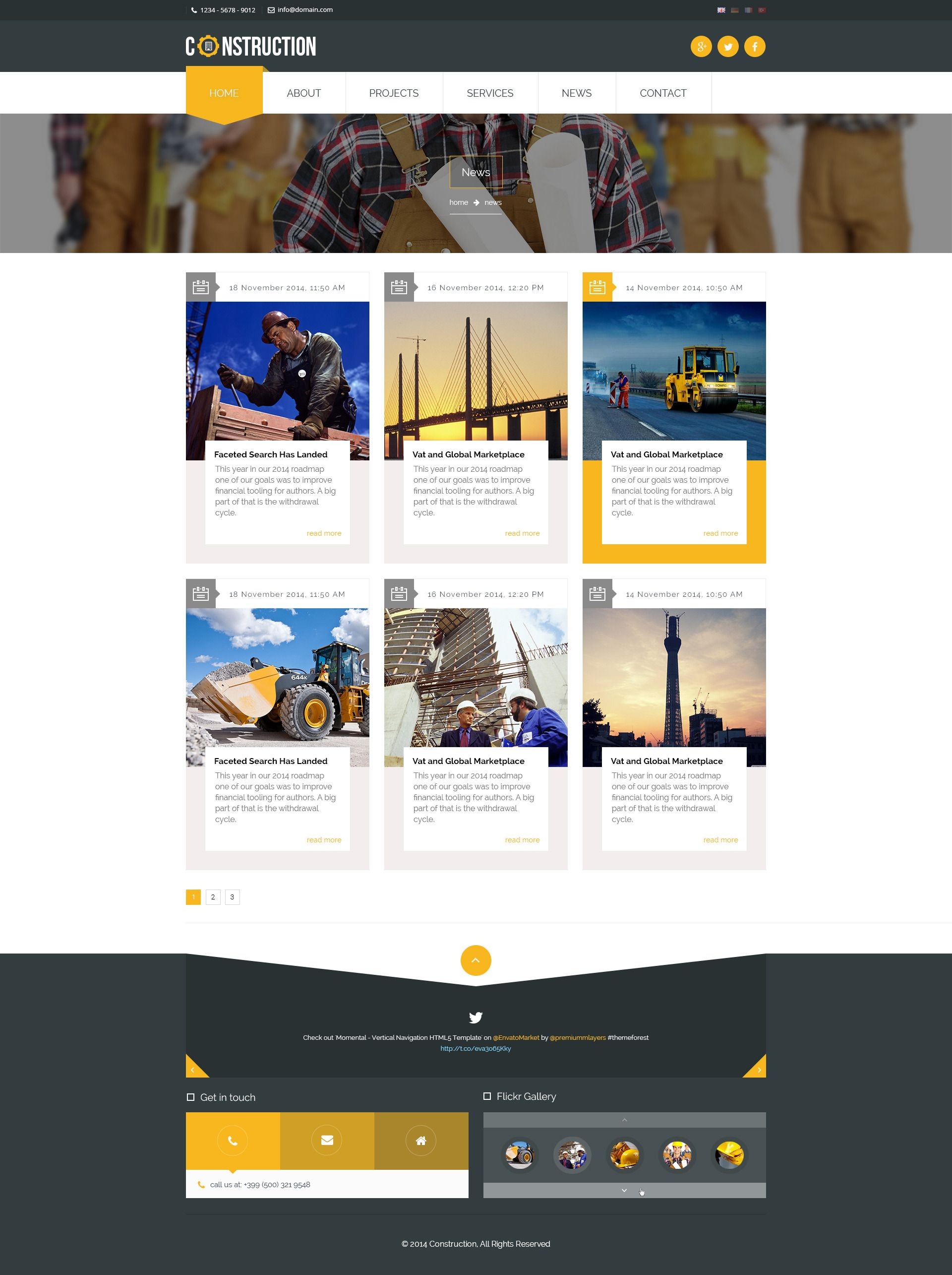 Factory Industrial Engineering Psd Template