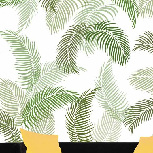 Palm Fronds 3 Piece Wall Pattern Kit In 2020 Leaf Wall Stencil Stencil Painting On Walls Leaf Stencil