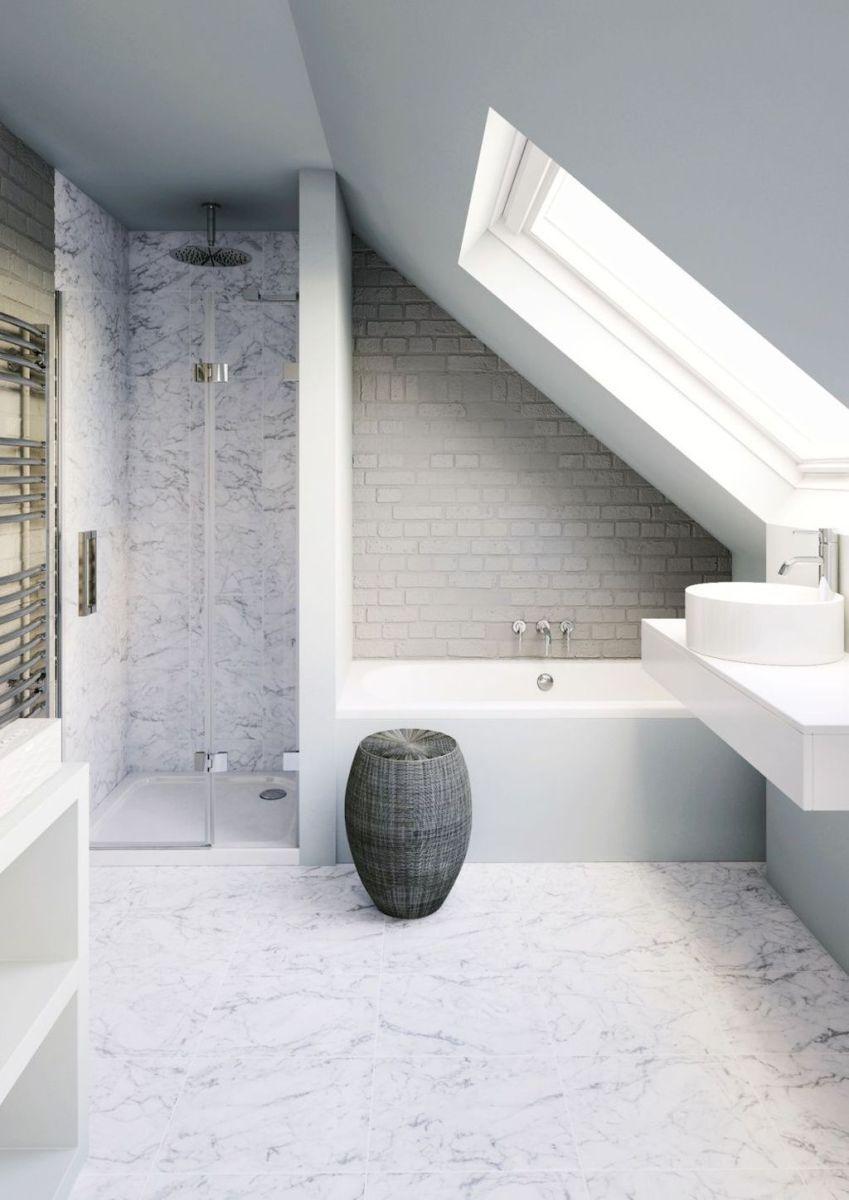 Attic bathroom remodel ideas (32 | Attic bathroom, Attic and Loft room