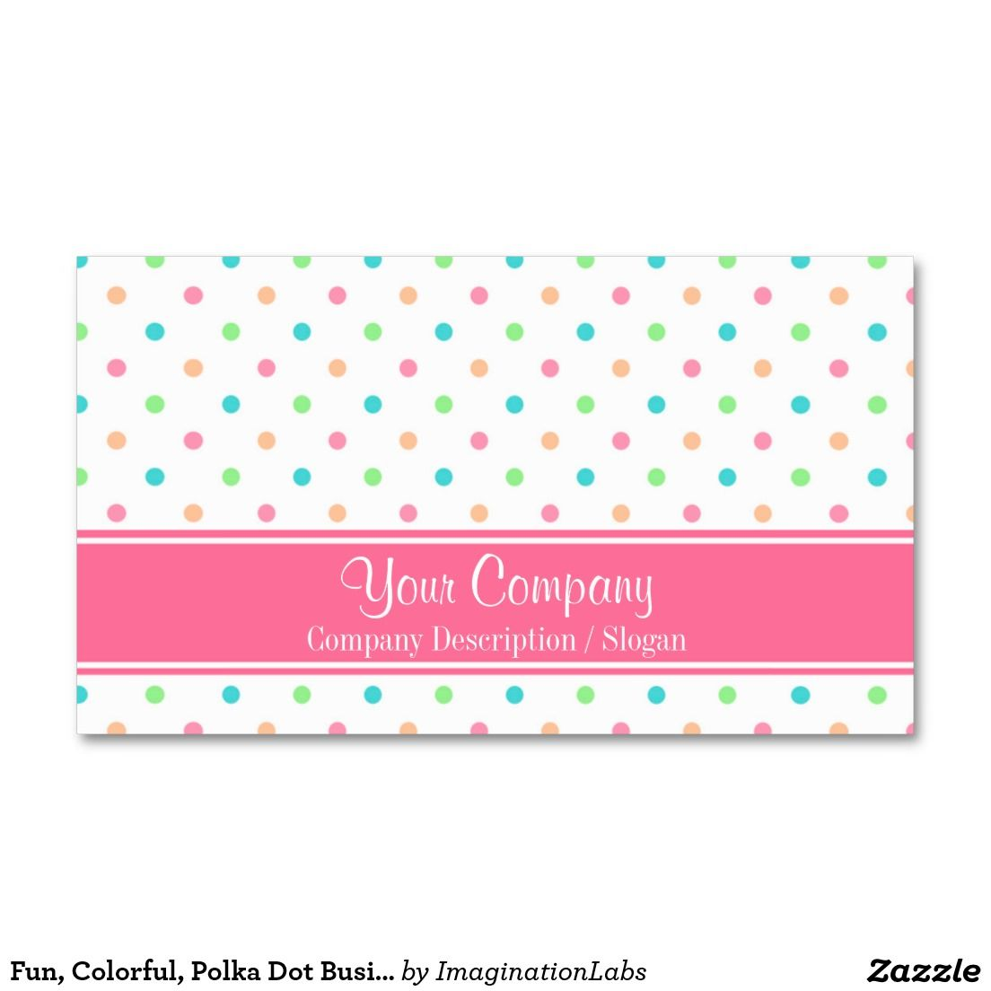 Fun, Colorful, Polka Dot Business Card | Business cards and Business