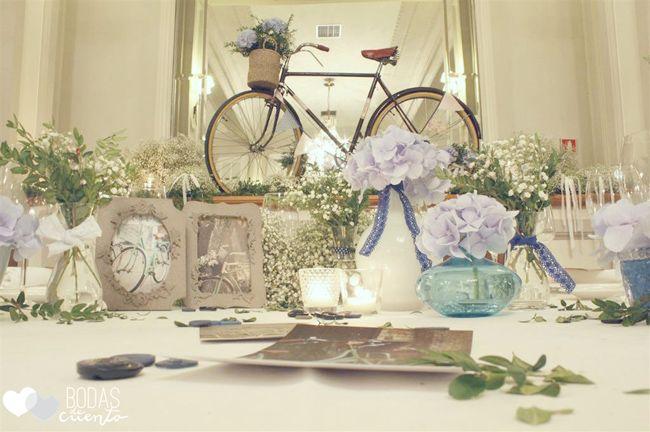 Una boda con hortensias azules bodas de cuento the - Decoracion con hortensias ...