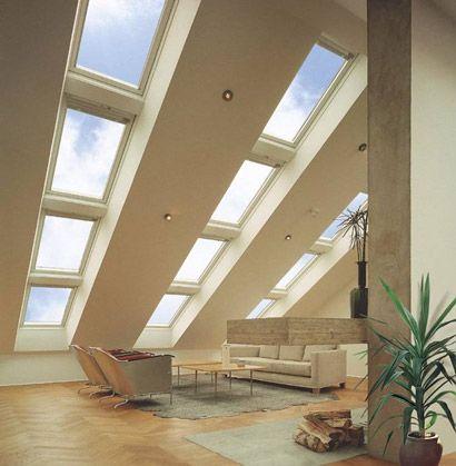 Verglaste #Dachschraege stilvoll und imposant Dachgeschoss Loft - dachfenster einbauen vorteile ideen