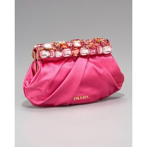 prada clutch pink