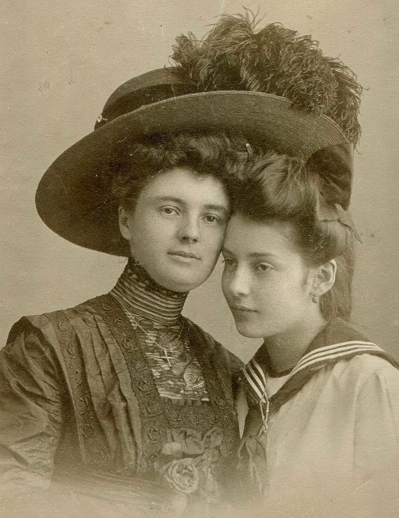 Love this photo. So much love shining through, depsite the formality of the times.  1910 Mother and daughter.