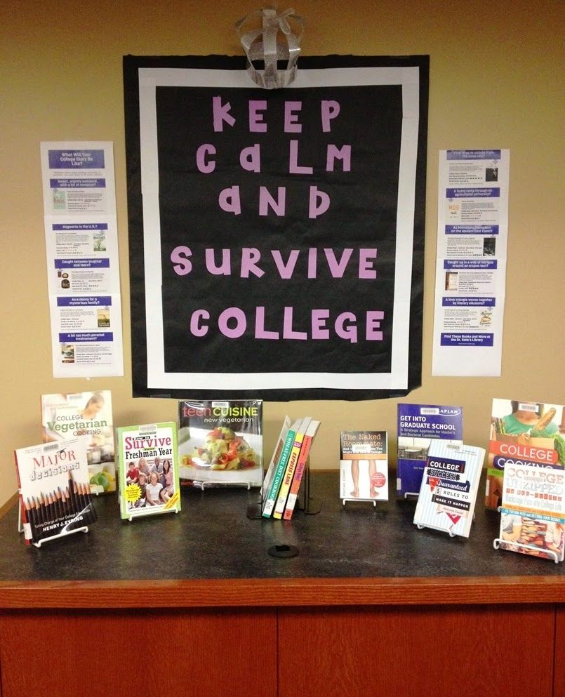 keep calm and survive college library display ideas keep calm and survive college
