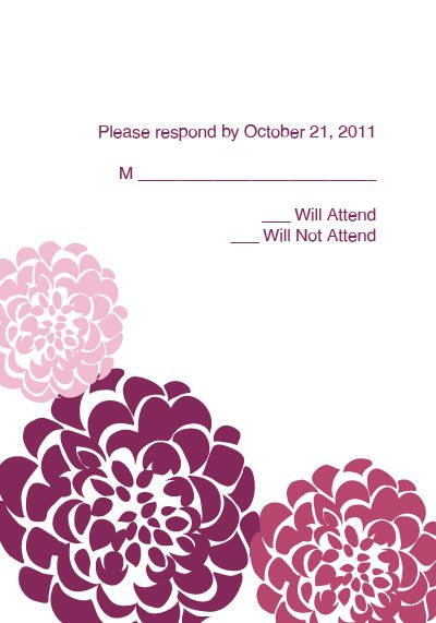 Free Printable Chrysanthemum Wedding RSVP Template Printables - party rsvp template