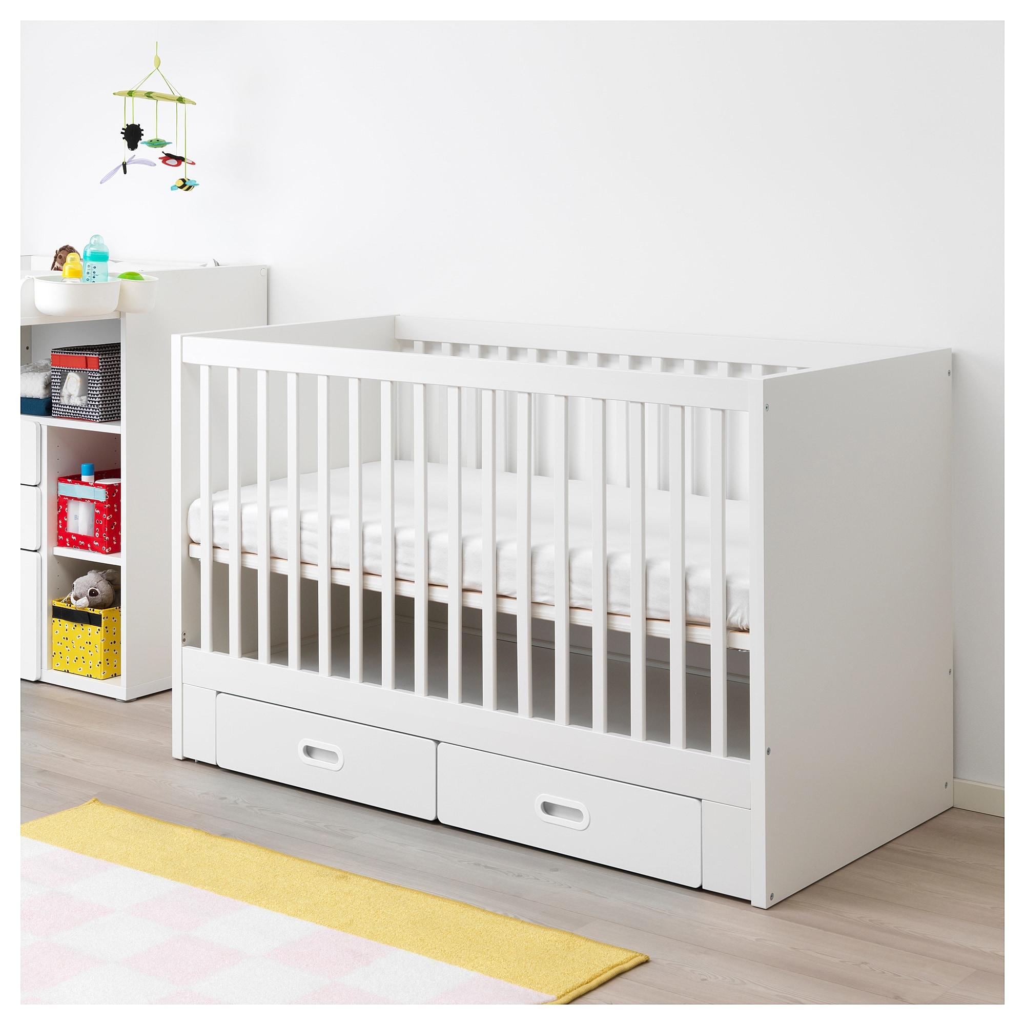 Stuva Fritids Babybett Mit Schubfachern Weiss Babybett Ikea