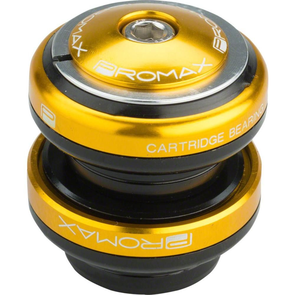 Promax PI-2 Steel Sealed Bearing 1-1//8 Press in Headset Gold
