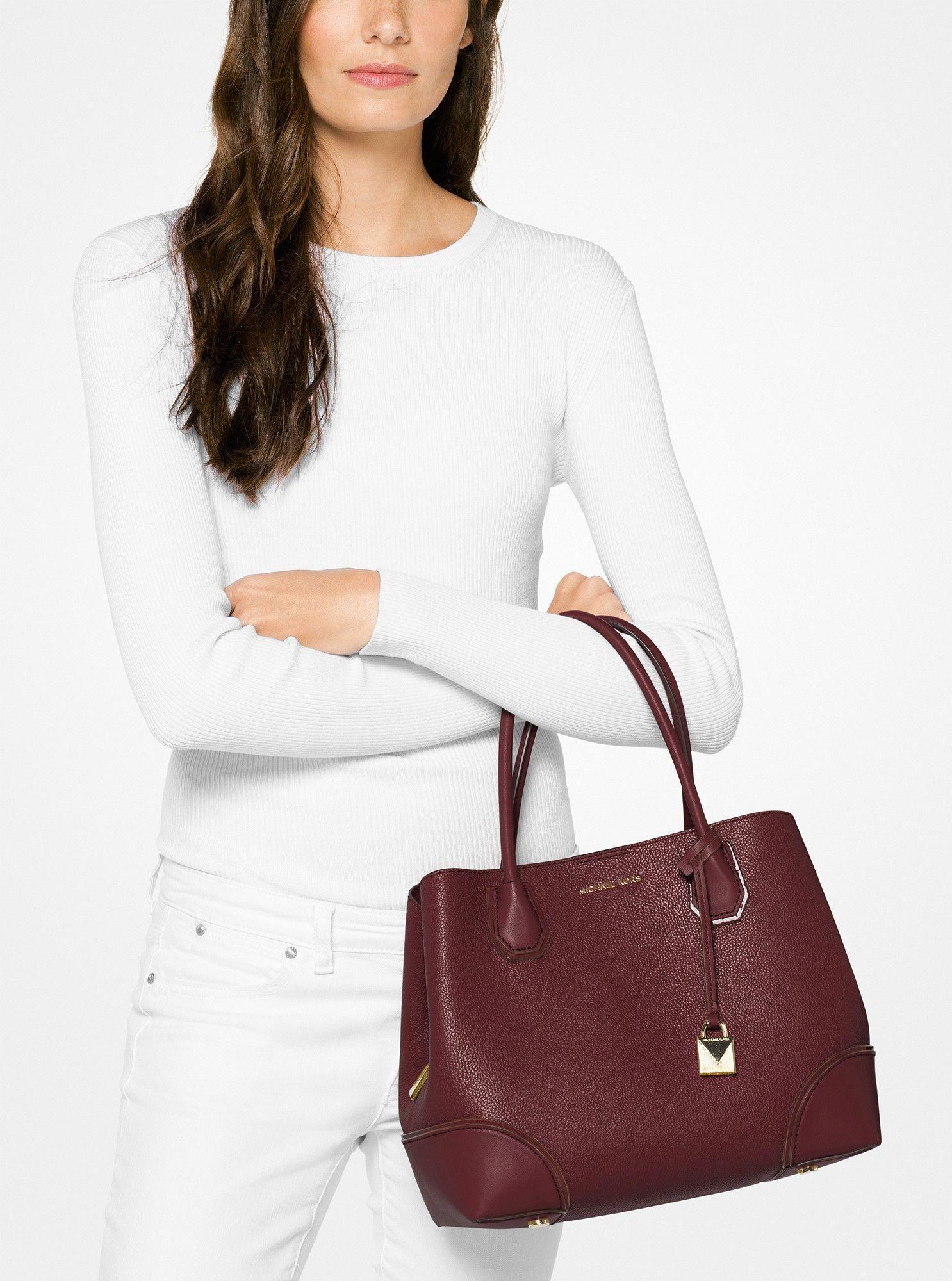 1cde3673a816 Michael Kors Mercer Gallery Medium Leather Satchel - Oxblood  #Handbagsmichaelkors