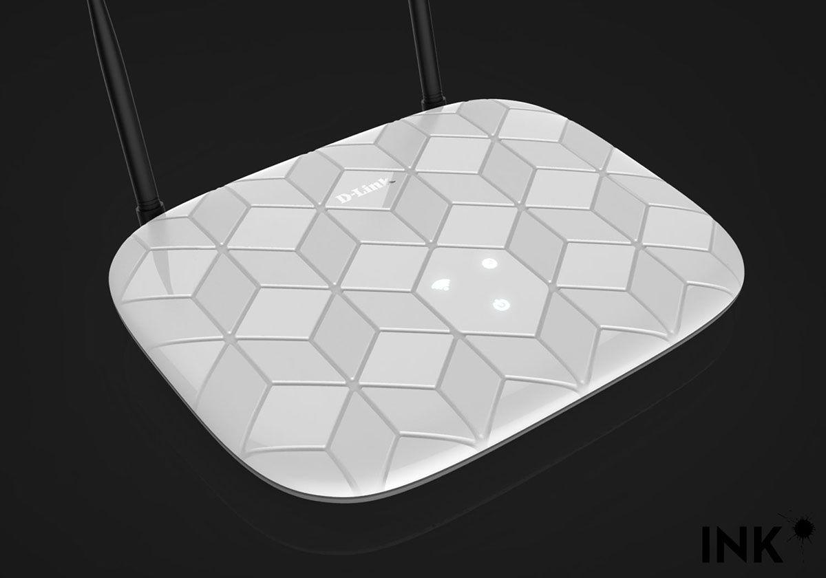 D Link Router On Behance Digital Pinterest Tenda Modem 11n Wifi Adsl2 Dh301 4port Switch In One Device Modello Di Superficie Fantasia Design