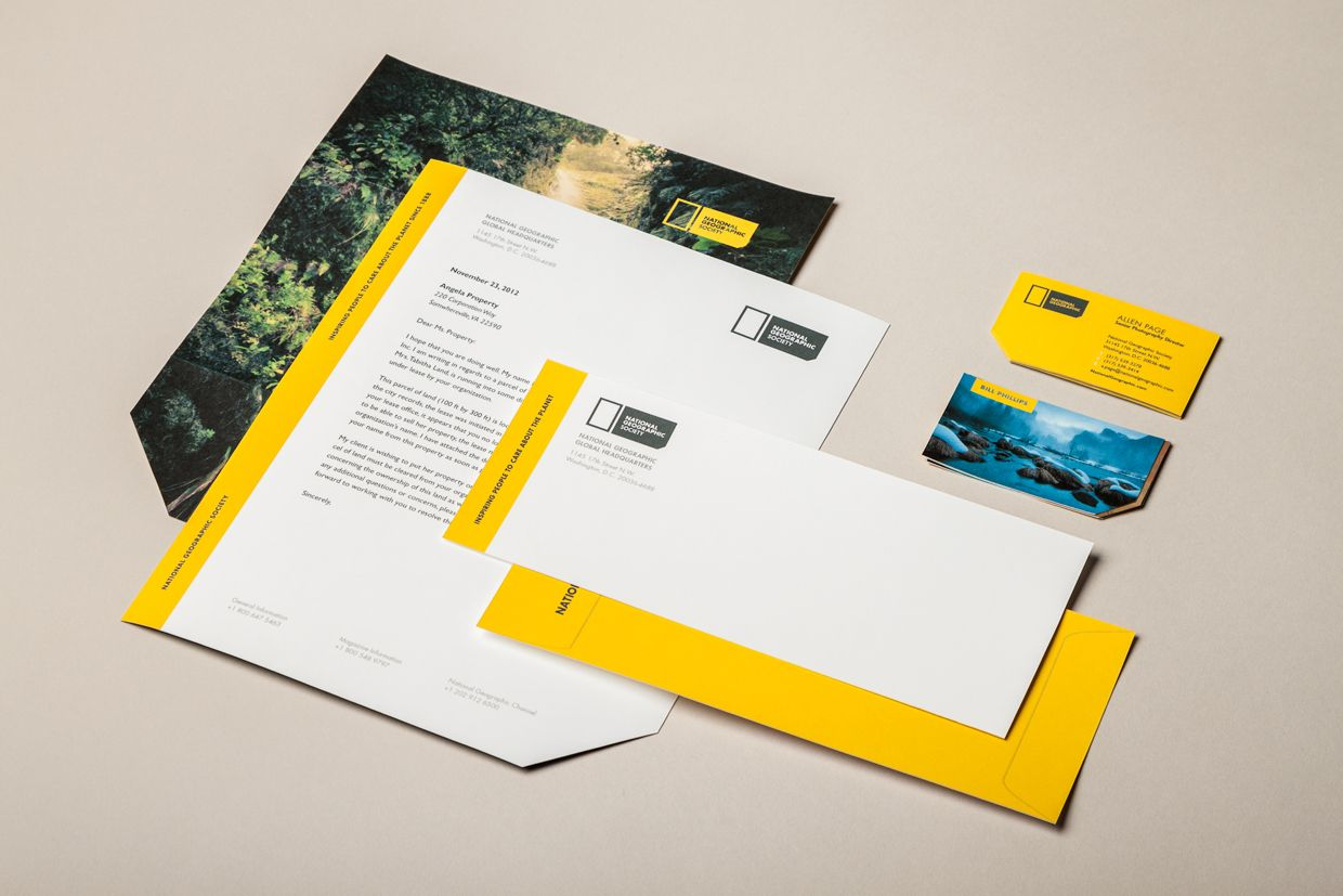 National Geographic Rebranding By Justin Marimon Business Card Design Business Card Logo Design Beautiful Business Card