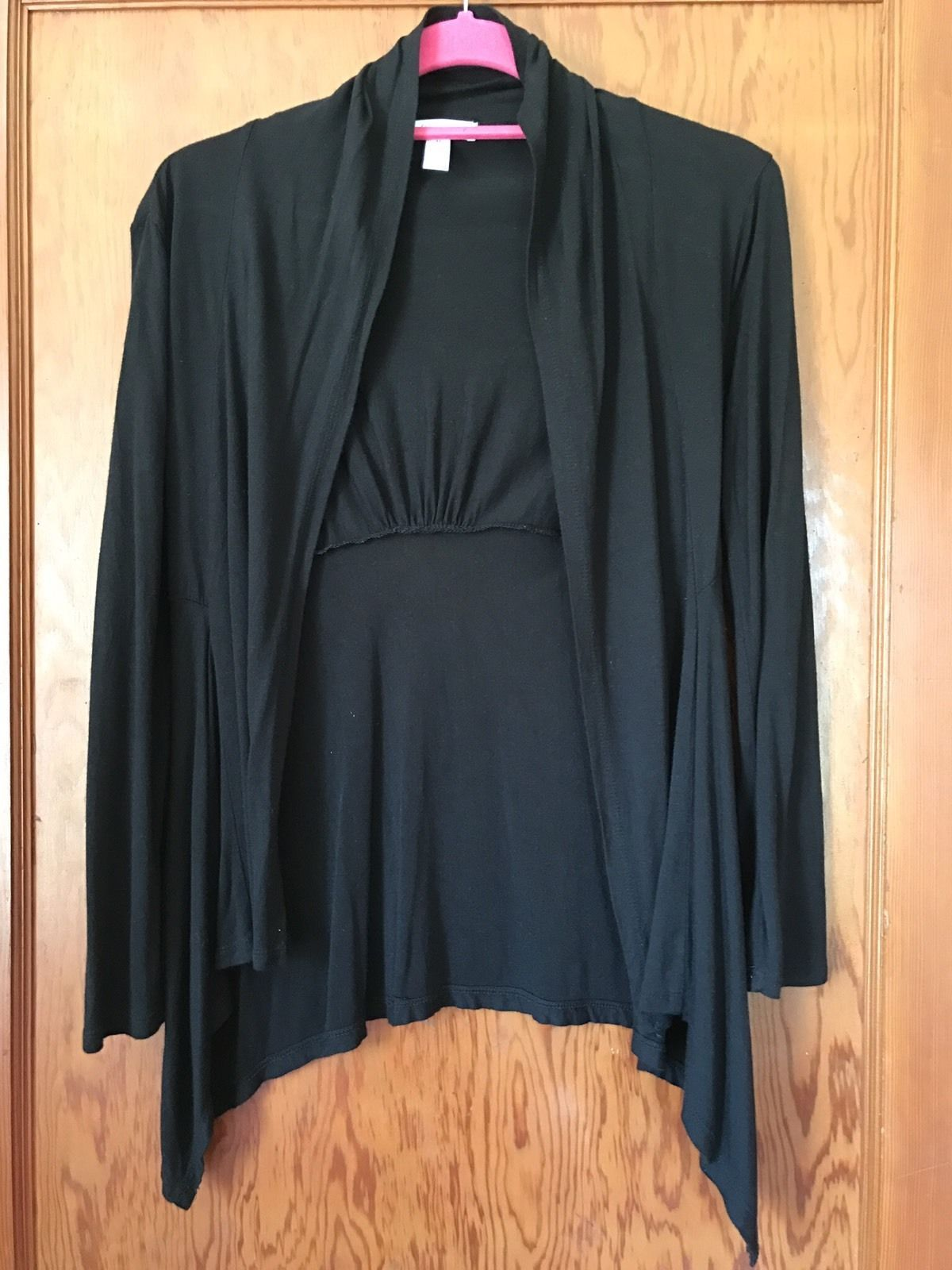 Ambiance Apparel Womens Sheer Open-front Long Sleeve Cardigan size ...