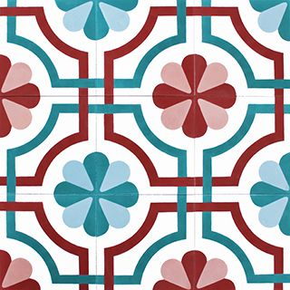 Cement tiles | Online shop | Mosaic del Sur kitchen?  Change pink and red to yellow and grey?