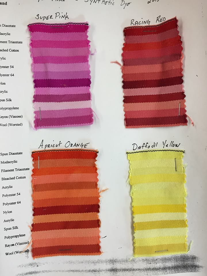 Rit Synthetic Dye Sample Chart | Color Palettes | Pinterest