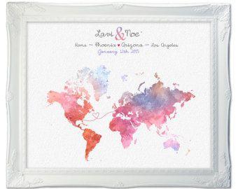 Wedding Guest Book Map Gift Idea Wedding Guestbook von Macanaz