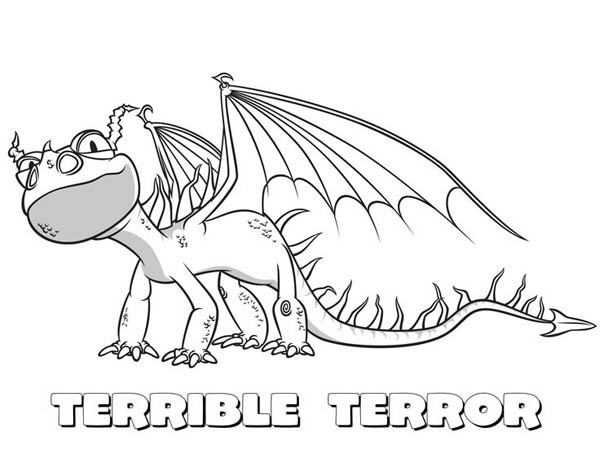 Little Terrible Terror From How To Train Your Dragon Coloring Pages Bulk Color Dragon Coloring Page How Train Your Dragon Coloring Pages