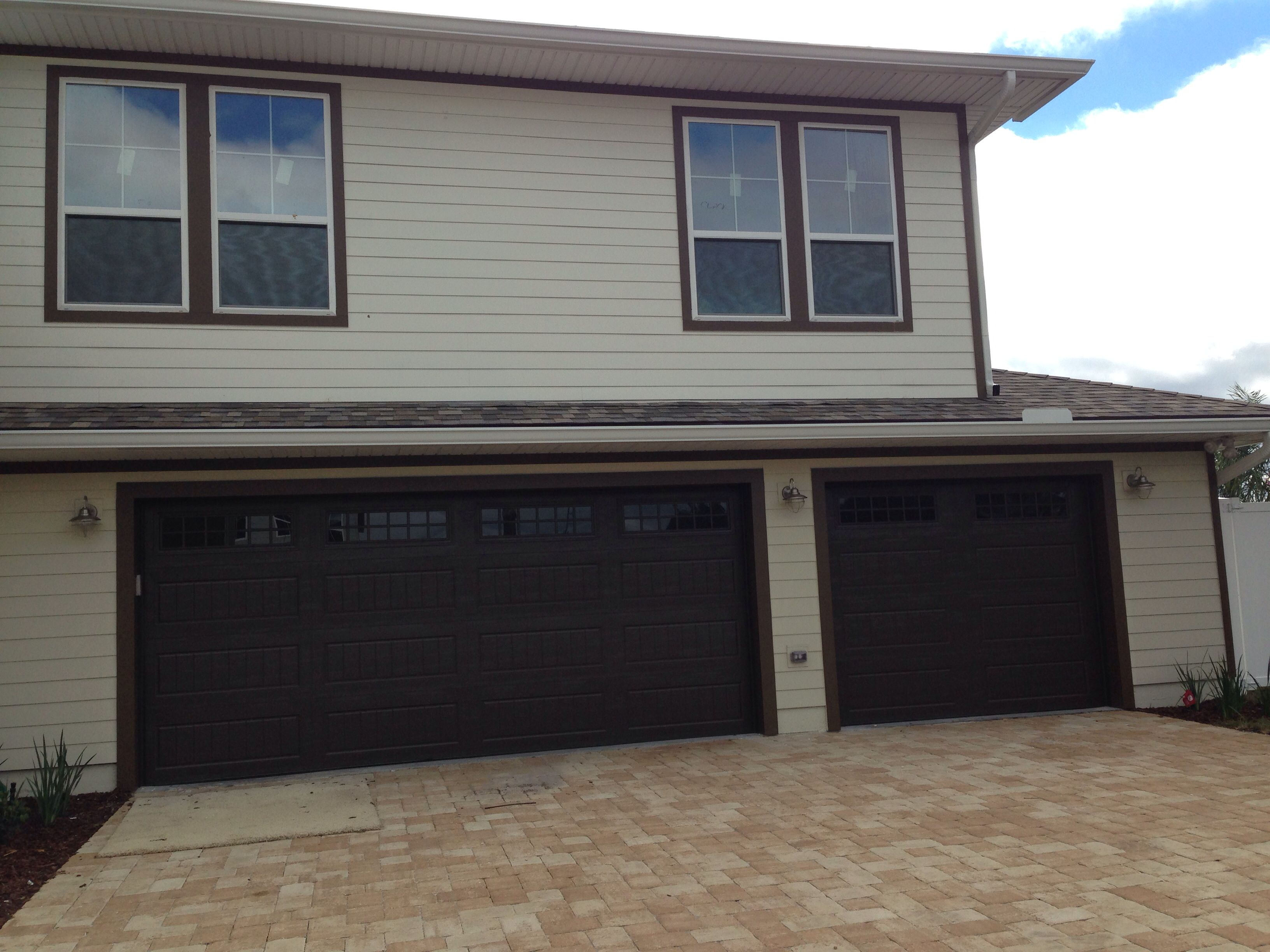 Delightful New Garage Doors Installed In Avalon In Jacksonville Beach. Amarr Oak  Summit 2000 With Stockton
