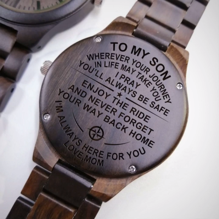 Perfect gift for your husband on any kind of occasion such as anniversary, birthday, or graduation. He will love this unique engraved wooden watch with leather belt. This awesome watch comes with perfect wooden gift box that matches with your watch.#engravedwoodenwatch #personalizedengravedwatch #woodenwatch  #bestgift #perfectgift  #memorablegift #personalizedgift#Birthdaygift #graduationgift #anniversarygift #watchformen #watchforwomen #idealgift #giftforanyoccasion #giftforson#giftformom