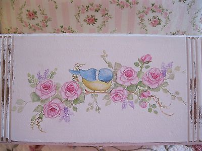 Shabby Chic Hand Painted Roses - Vintage Keepsake Box