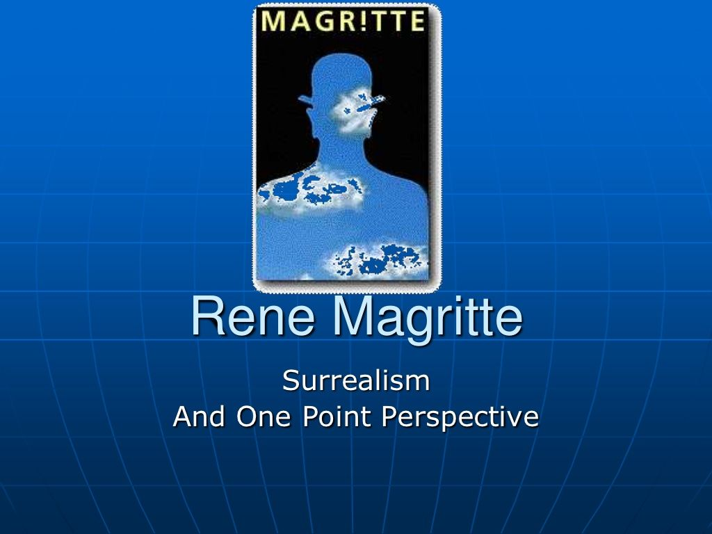 Rene Magritte One Point Perspective And Surrealism By Clark Middle School Via Slideshare
