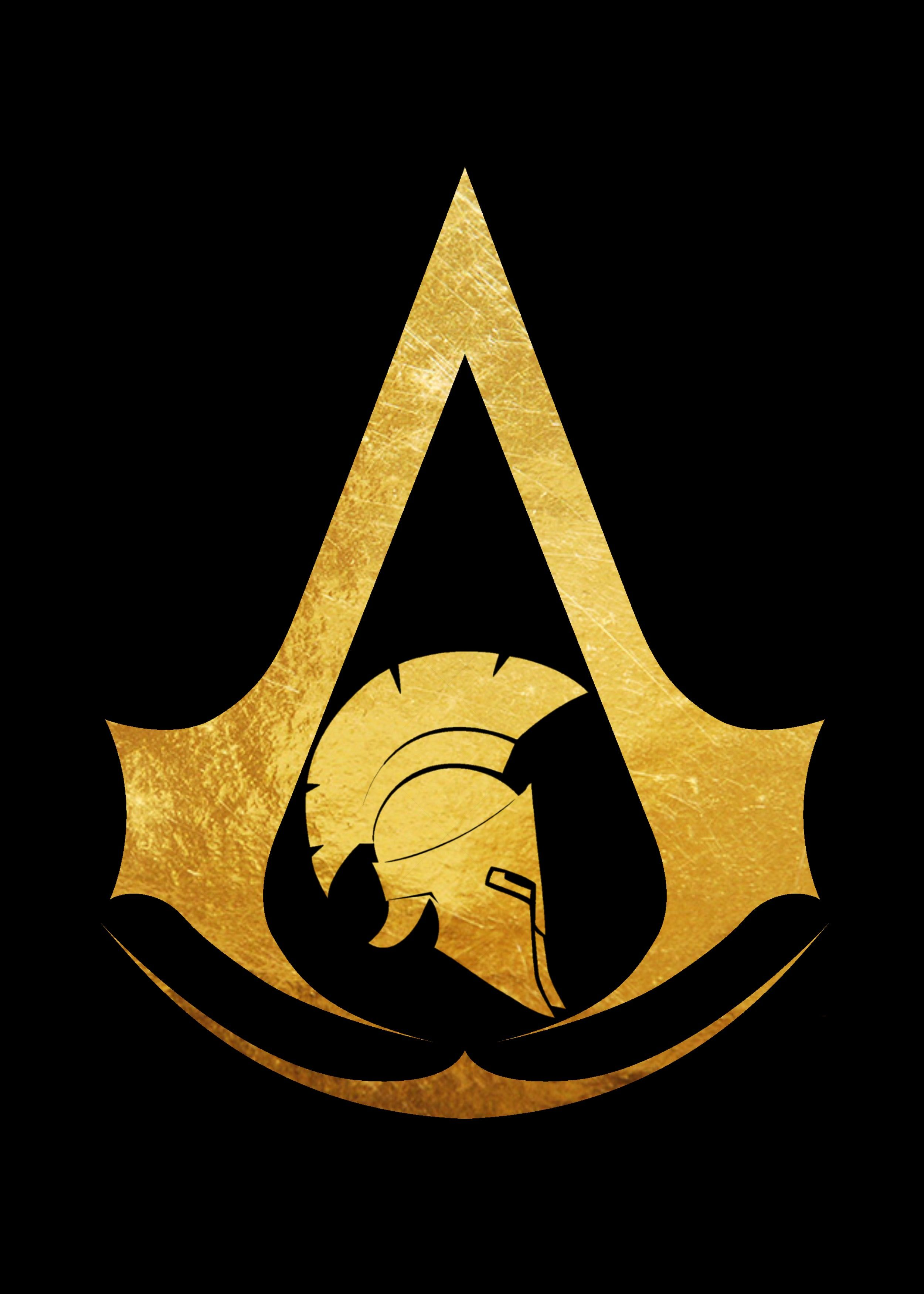AC Odyssey black background Assassin's creed wallpaper