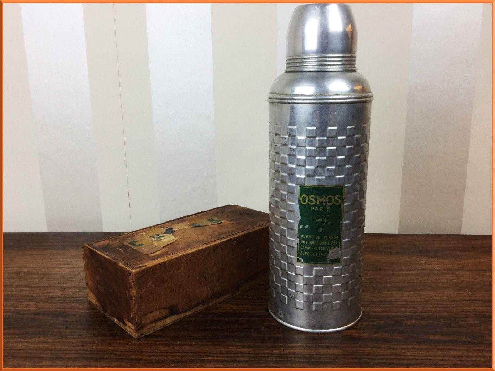 Thermos Bakelite French Aluminium Vintage Osmos Flask Kitchenalia 29WHIYDE