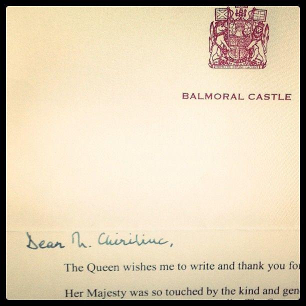 #Balmoral #Castle #Letter