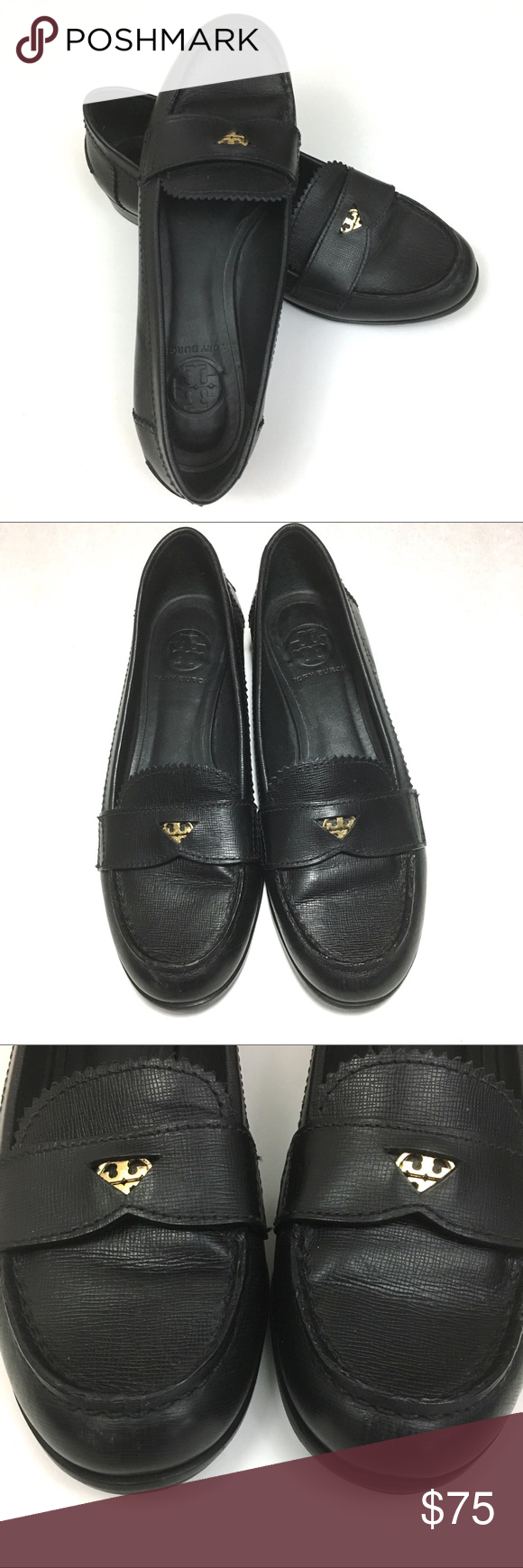 e896235cf2f Tory Burch black leather penny loafer size 7 Host Pick 10 17 Style Crush  Party Brand  Tory Burch Style  Pennie low heel penny loafer Color  black  Size  7 M ...