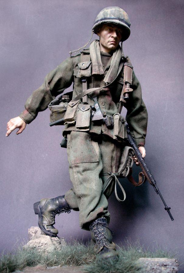 Le dernier soldat allemand de la seconde guerre mondiale Parachutiste Action Figure 1:6 Scale