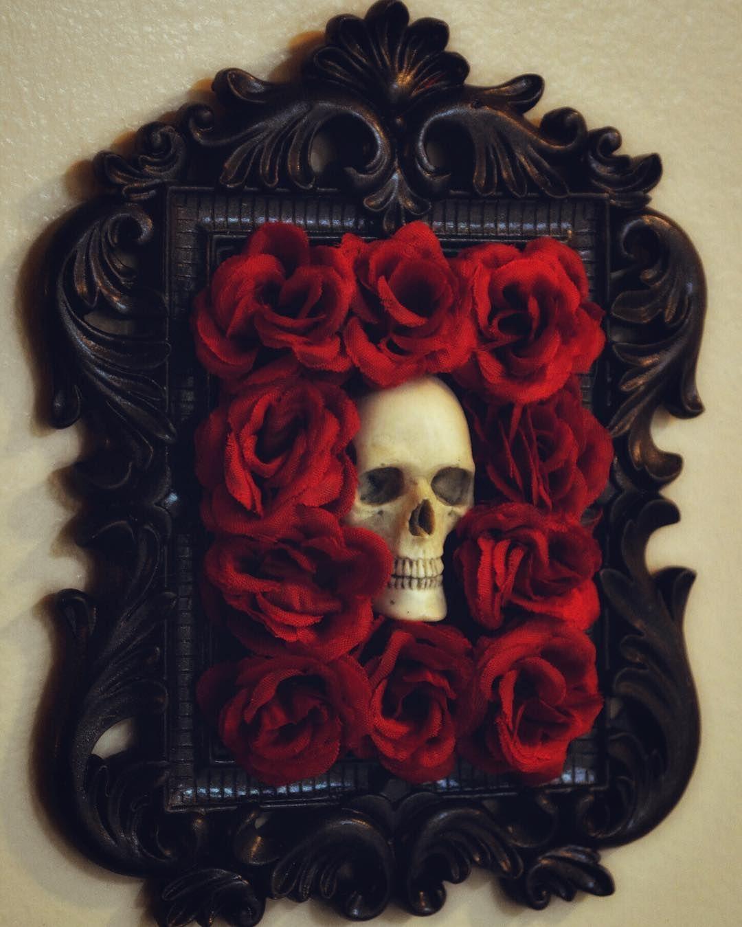 """Photo of April Slaughter on Instagram: """"Small skull wall hangings, coming soon. 💀  #slaughterskulls #skulls #skull #humanskull #bones #crafty #dark #macabre #art #artwork…"""""""