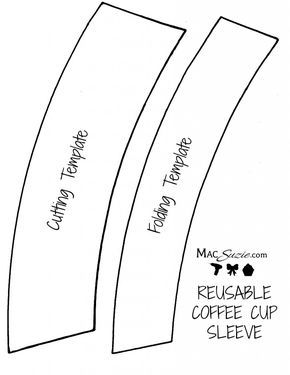diy reusable coffee cup sleeve free printable template mini