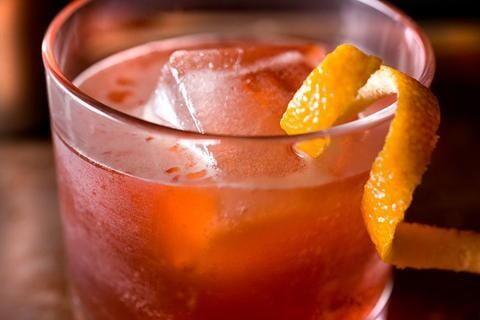Campari & Fresh Orange Juice - lovely!