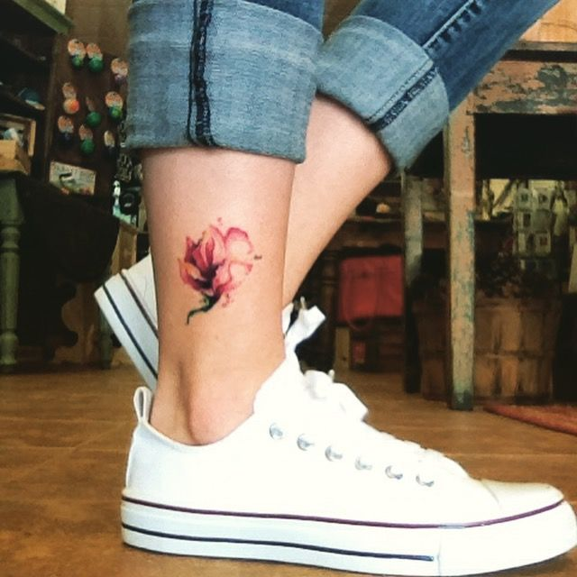 22 outer ankle tattoo
