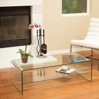 Superieur Shop For Ramona Glass Coffee Table With Shelf By Christopher Knight Home.  Get Free Shipping