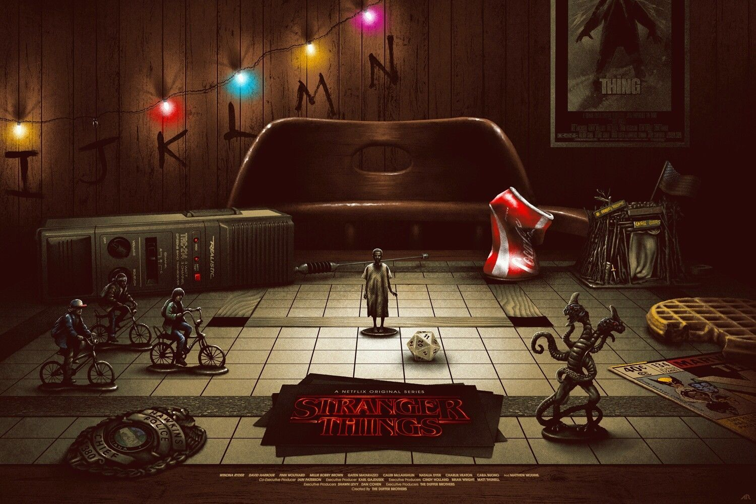 Details About Stranger Things Screen Print Poster By Vance Kelly Not