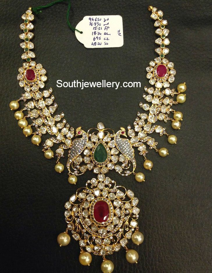 Uncut Diamond Necklace latest jewelry designs Page 5 of 40