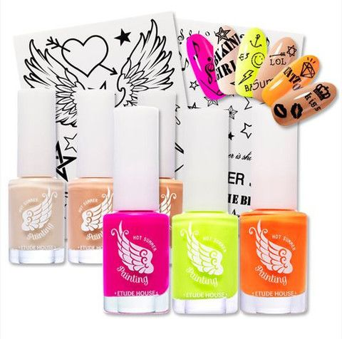 Hot Summer Nail  Body Painting Set, Nail Color + Nail Sticker + Body Tattoo Sticker ETUDE HOUSE | KollectionK