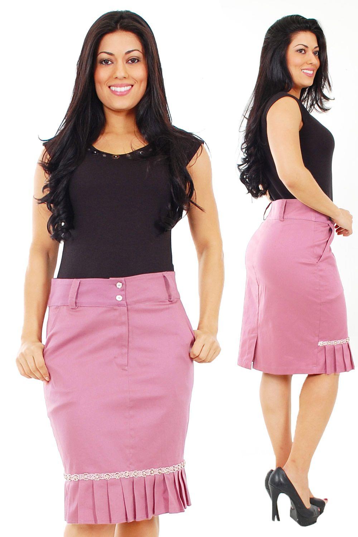 628be1268 Saia super facil de fazer | polleras | Skirt fashion, Fashion e ...