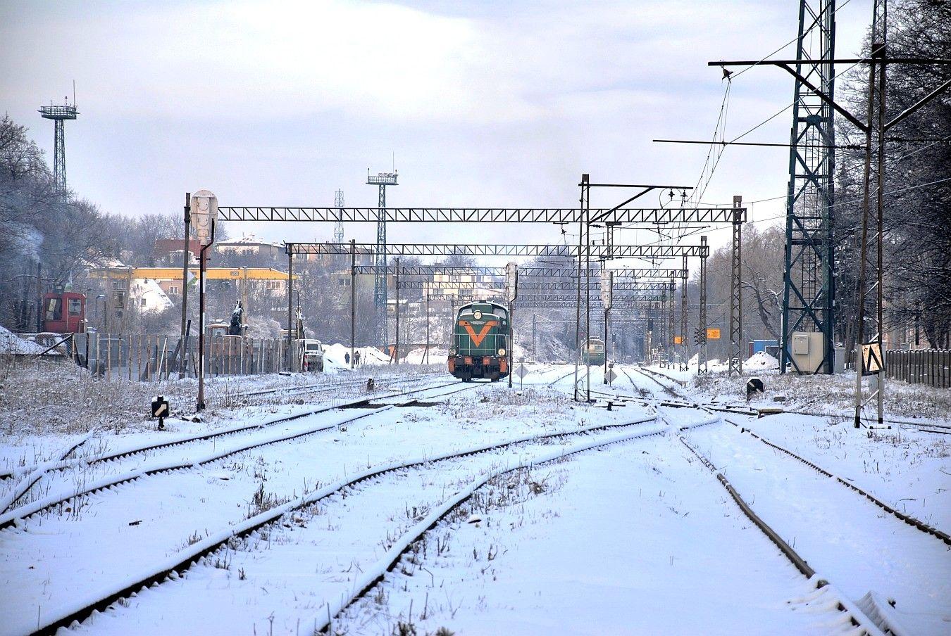 Fragment stacji kolejowej Wałbrzych - Szczawienko