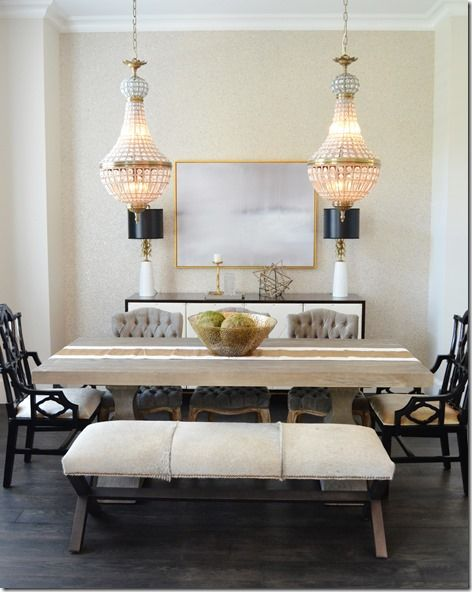 Dining Room Chic Classic Black Amp White Chandelier