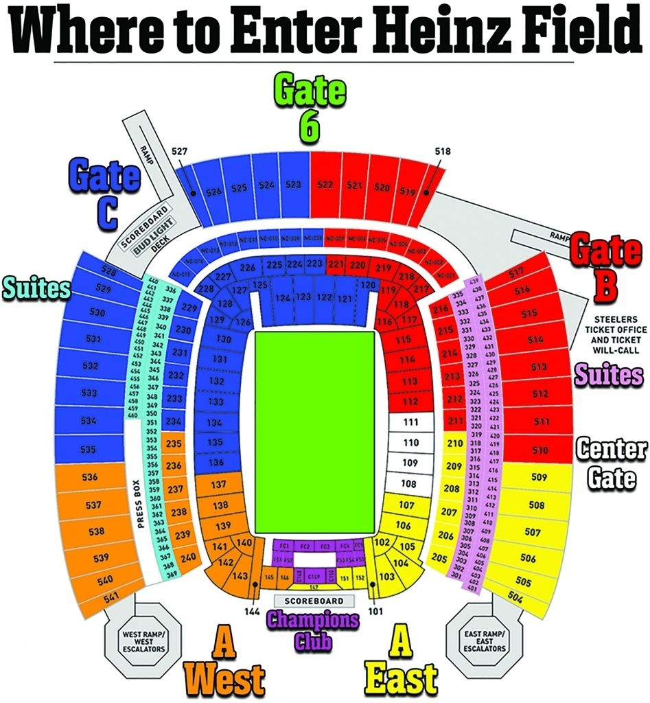 Heinz Field Concert Seating Chart Heinz Field Seating Charts Chart