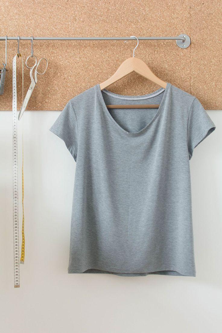 T-Shirt nähen - Anleitung und einfaches Schnittmuster