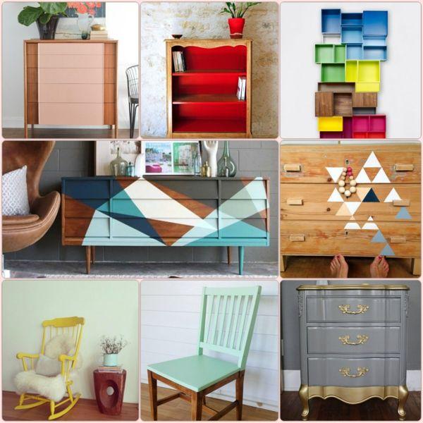 alte m bel neu gestalten und auf eine tolle art und weise aufpeppen color blocking. Black Bedroom Furniture Sets. Home Design Ideas