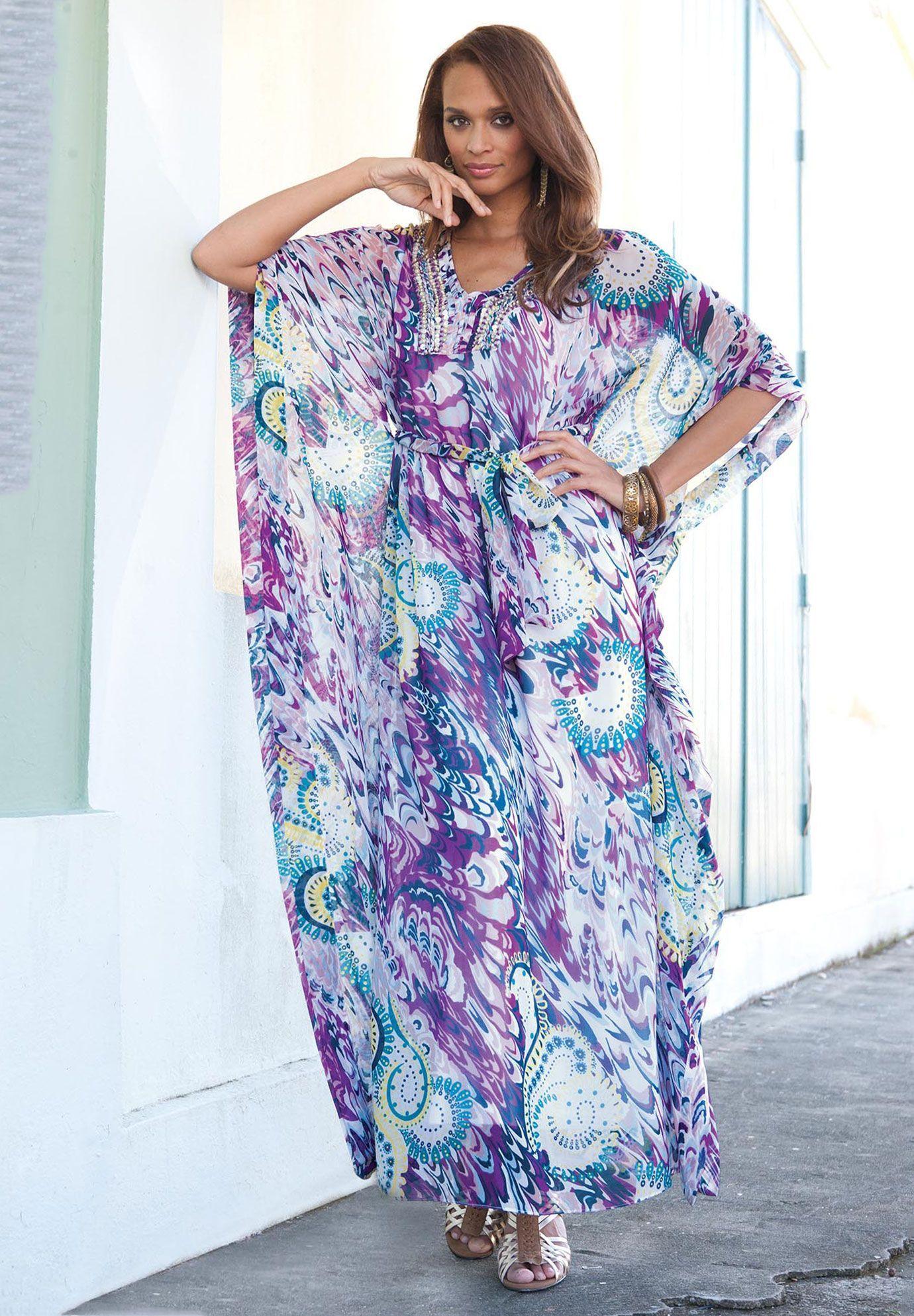 Jessica London Printed Maxi Tunic Dress Floaty Frocks Pinterest
