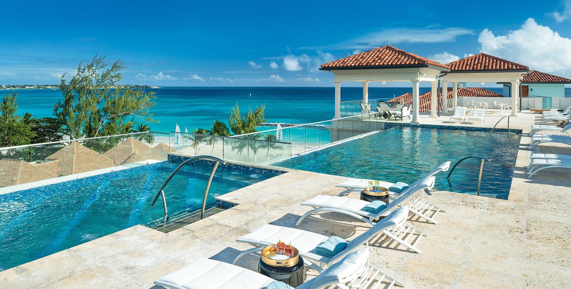 Rooftop Pool  Caribbean resort Barbados resorts