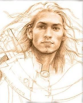 Elf Portraits: Pictures of the Elf-Lords - Thranduil. holy crap, that doesn't look like an elf. that's too rugged to be an elf.
