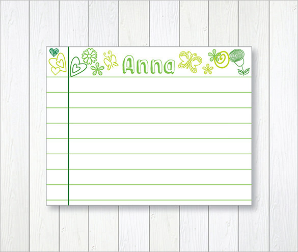 Printable Index Card Templates 3x5 And 4x6 Blank Pdfs Printable Note Cards Note Card Template Flash Card Template